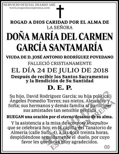 María del Carmen García Santamaría